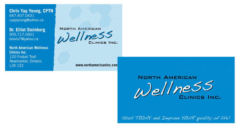 North american wellness clinics business cards crich creative north american wellness clinics business cards crich creative seriously fun designs reheart Image collections